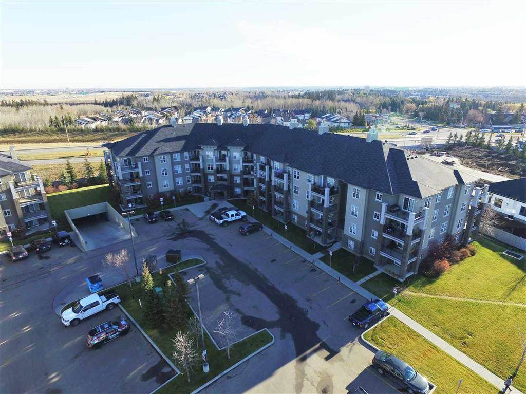 GREAT LOCATION!!! MacEwan Village is in the Heart of South West Edmonton. Located just off Anthony Henday on 111 Street where you are Close to so Many Amenities. Your 2 Bedroom, 2 Bath, Insuite Laundry Condo also Offers you an Amazing 10' x 10' Covered Deck with Gas Connection for BBQ Enjoyment! Kitchen has Eating Bar that separates the Open Concept Dining and Living Area. Patio Doors to Deck Offer Great Light to your Home. Master with Walk through Closet to 4PC Ensuite. There are 2 Parking stalls Assigned to Condo, Above Ground (3rd Stall to the right of Main Door for Convenience). Underground Parking Stall is #76 which is right next to the Access Door for even more Convenience. Underground Parking Stall comes with Caged Storage In Same Stall! Condo Fees  INCLUDE: Heat, Electricity and Water as well as other services. Come and Enjoy Worry-Free Condo Life Close to Shopping, Dining, and More!!