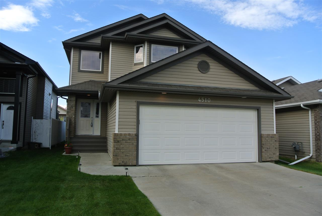 This Immaculate 3 bedroom home shows almost LIKE NEW! Wonderful, comfortable and modern open main floor that's perfect for entertaining, family gatherings and daily living. The Kitchen offers a corner pantry and large sit up Island with loads of cabinet space. Sliding doors opening onto a gigantic deck where you will spend a great amount of quality outdoor living! Features main floor laundry and guest bathroom. Upper level has 3 spacious bedrooms with  master suite offering a walk-in closet and full ensuite bathroom. Adding to your enjoyment and space, is a fully finished basement with a huge family room and full bath. Perfect for a kids space, media room or games area. Quality Flooring, all appliances and window coverings are included. This home is located on a quiet street, yet just a short way to major shopping and easy access to the Anthony Henday. A large fully fenced backyard, and includes a garden shed.