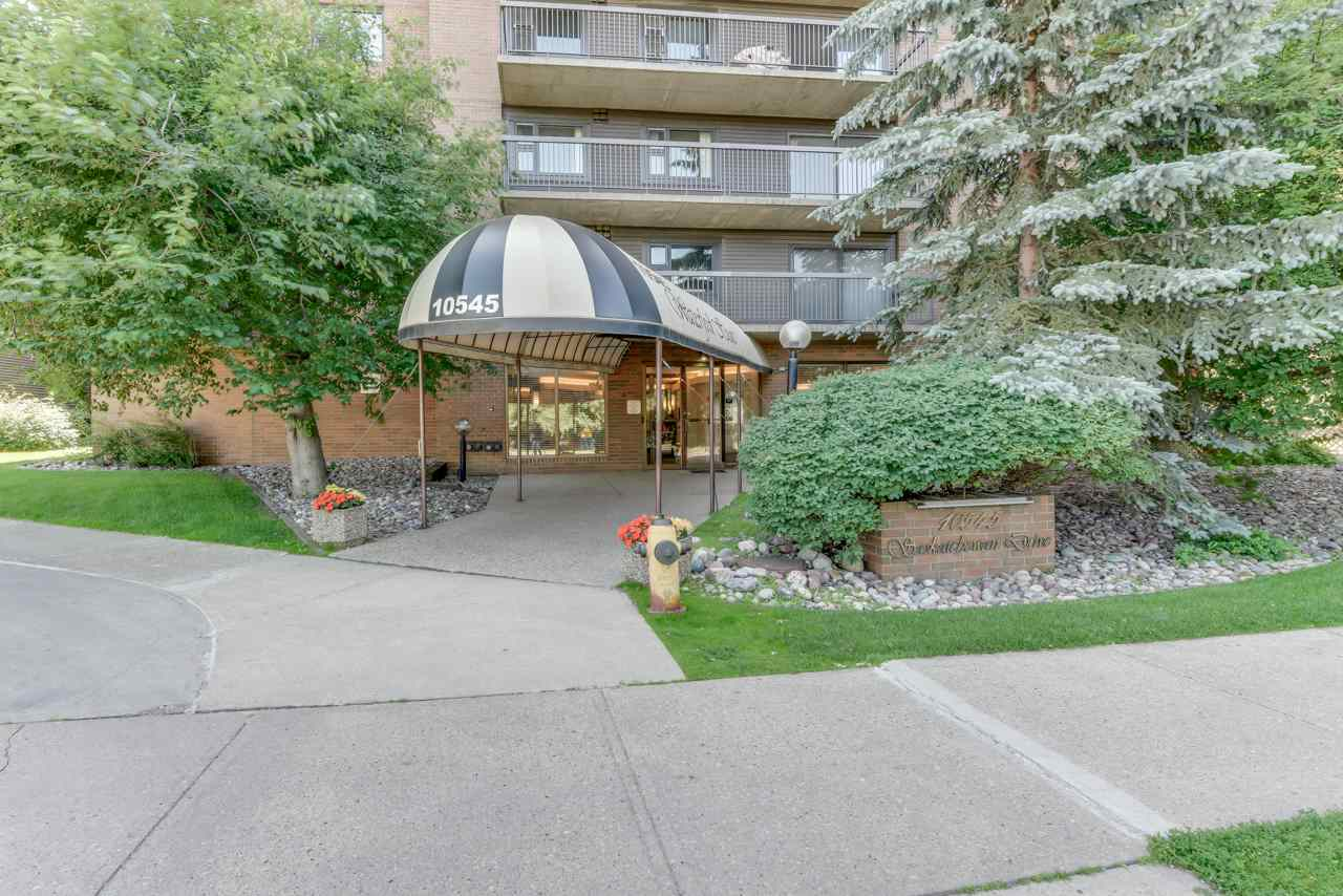 If you've been looking for the best location in the city, look no further. This top floor, nearly 1000 s.f. condo across the street from the river valley offers amazing proximity to walking trails, downtown, U of A, and Whyte Ave! Whether you like escaping into nature, improv shows, farmers markets, festivals, or a nice evening out for dinner - you can walk to it all! This property offers 2 bedrooms and 2 full bathrooms, including a master ensuite and walk-through closet, as well as in-suite laundry. The large living and dining spaces will give you room to breathe, and you will love the MASSIVE South balcony that opens onto trees for privacy. It's a lovely, quiet unit in an 18+ building. If that isn't enough, there are 2 assigned underground parking stalls and storage locker. The building also offers a billiards room, social room, and gym for your enjoyment and has fantastic visitor parking. Come see why this condo is your perfect next place that you can make your own!