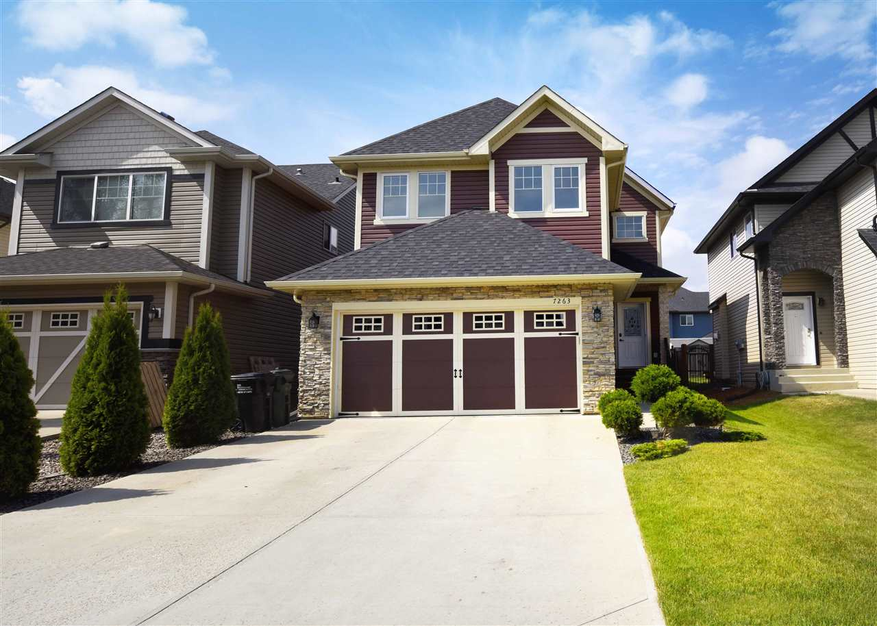 Welcome to Emerald Hills, this stunning Coventry built home offers 4 bedrooms, 4 bathrooms, finished basement, double attached garage & over 2549sqft of fully finished living space!  Entering the home you will love the large foyer.  Continue on into the beautifully decorated formal living room with gas fire place & 16 foot ceilings! Incredible natural light flowing throughout the main floor. The gourmet kitchen has a large island with breakfast bar, ample cabinet/storage space & dining nook. Connected to the kitchen is the formal dining room. The laundry room, boot room & ½ bath complete the main floor. Upstairs retreat to master suite with walk-in closet & 5 piece ensuite. Bedrooms 2 & 3 are both a good size & a 4 piece bathroom complete the upper level. The fully finished basement is perfect for family movie nights! The 4th bedroom, 4 piece bathroom & storage area complete the basement. Outside you will fall in love with the large deck, fully landscaped & fully fenced backyard! Close to all amenities!