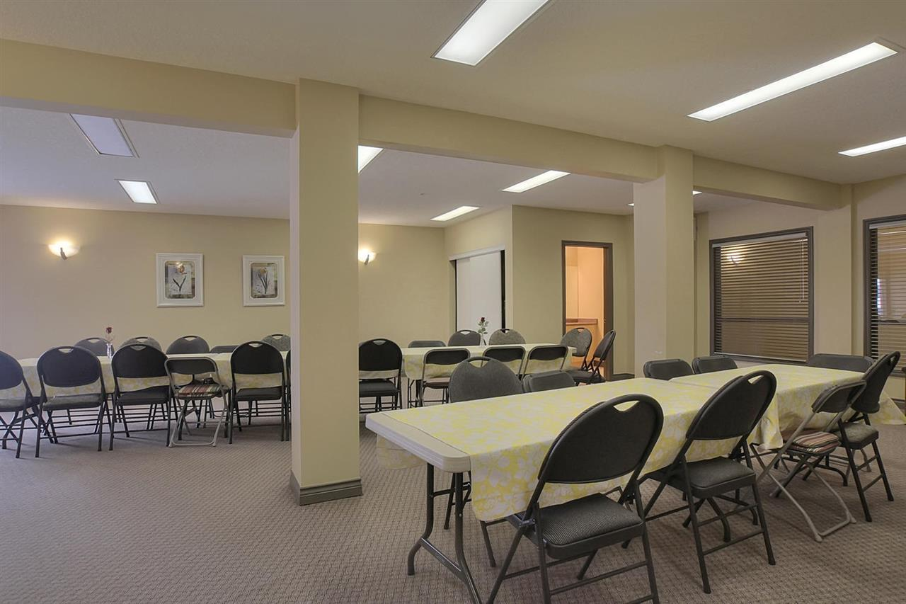 This social room is used for a weekly coffee date in the complex. There is also a monthly pot luck dinner and a yearly bar b que to join in and get involved or make a new friend..