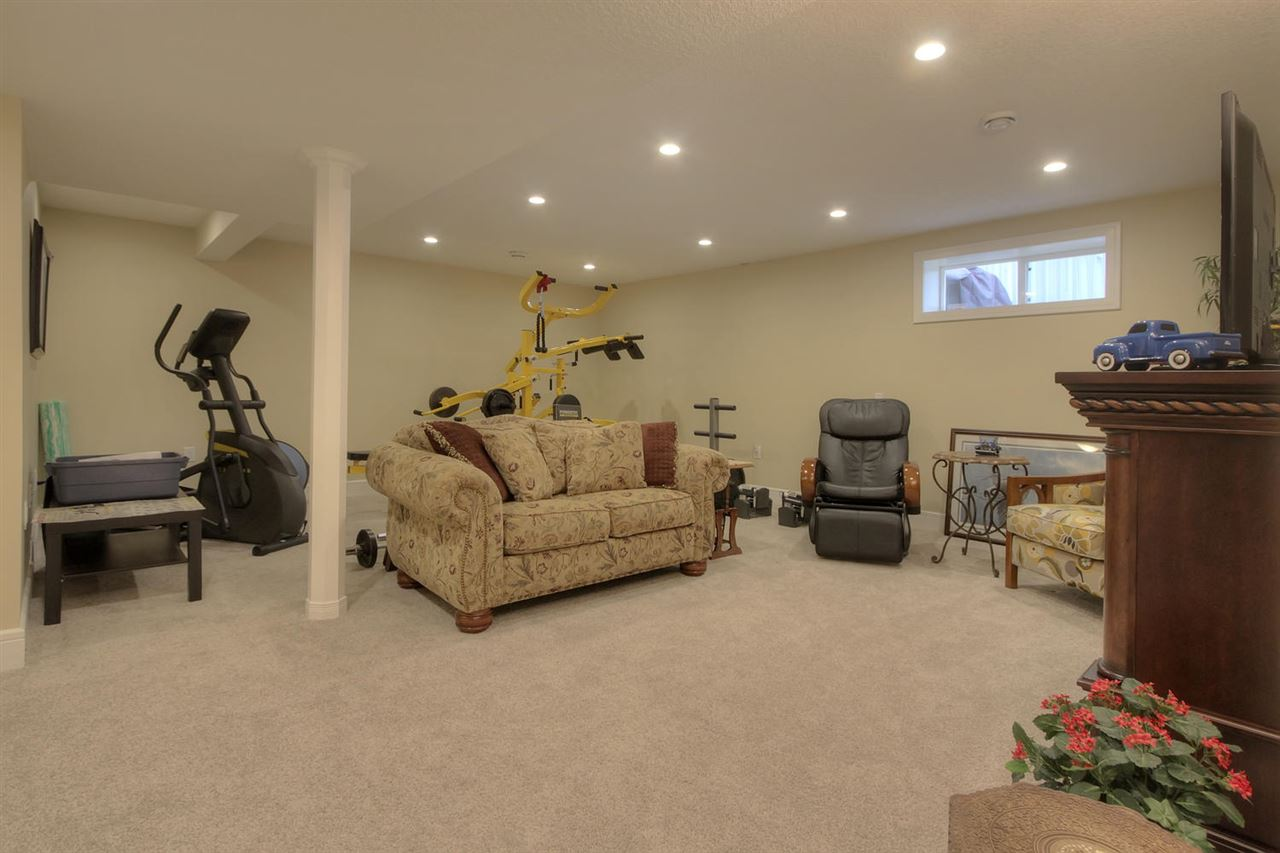 A full view of the basement shows the large size.