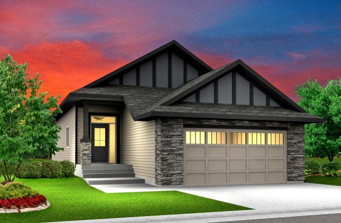 Welcome to this beautiful Coventry model Bungalow built by award winning builder Blackstone Homes. Locations, Quality and amazing floor plan is what you will find in this house. This 1500 sq. ft. beautiful bungalow comes with 10 feet main floor ceiling and 14 feet vaulted ceilings in the great room. Upon entering you will be impressed by the huge foyer. Huge maple chef's dream kitchen with built in appliances, spice racks, gas cook top, oversized island over looking the formal dining area. Great room is perfect with double sided fireplace overlooking the treed area in the back for total privacy. Master bedroom with  beautiful en-suite with Jacuzzi, double sinks shower and walk in closet. Mudroom with bench, built ins, shoe rack, laundry with sink, walk through pantry. Other Features - Coffered ceiling in dining, Deck with gas line, Double sided fireplace, Quartz throughout, upgraded crystal lighting package, Built in appliances, MDF Shelving, Glass railings, Alberta New Home Warranty and much more!