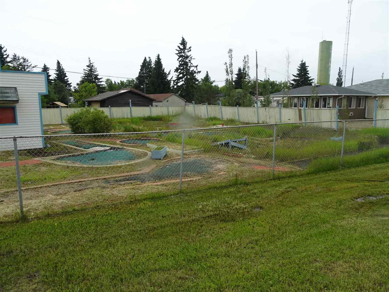 Commercially zoned lot with highway frontage in the Village of Chipman. This property was formally run as a mini golf course.