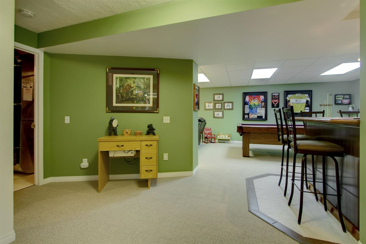 The open foyer in the basement makes this lay out feel larger and more connected.