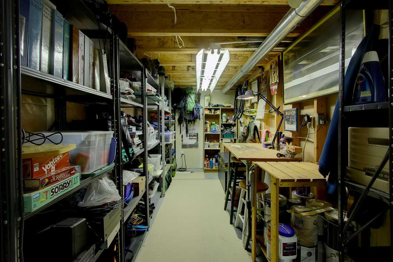 This is another storage space that works really well for a workshop. What ever your hobby, this space may become the place to enjoy it.