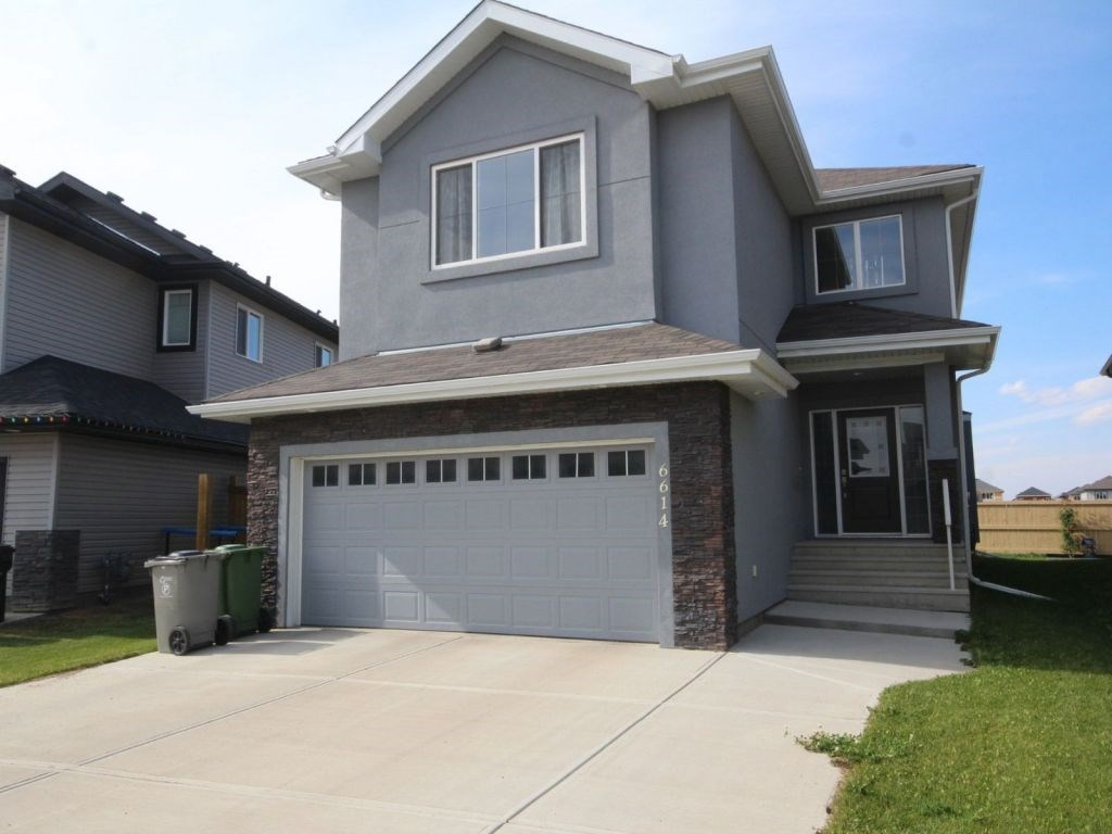 Locating on a new community of Beaumont. 2238 sq ft 2 storey home comes with 3 bedrooms, 2.5 bath & large bonus room. Main floor starts with open to above Foyer, open concept kitchen with Maple Cabinetry, Granite counter tops and upgraded appliance, family room comes with hardwood flooring, wall unit with fireplace & fair size Den. Upper floor starts with large master bedroom with 5 piece ensuite & walk in closet, 2 other bedrooms, bath, and Huge bonus room with large windows, COVERING BY BLACK OUT CURTAINS. DOUBLE ATTACHED GARAGE, LOADED WITH UP GRADES, CLOSE TO SHOPPING PLAZA AND NO FRILLS. THIS HOUSE HAS 1.5 INCH THICK STYRO FOAM ACRYLIC STUCCO FOR EXTRA INSULATION.