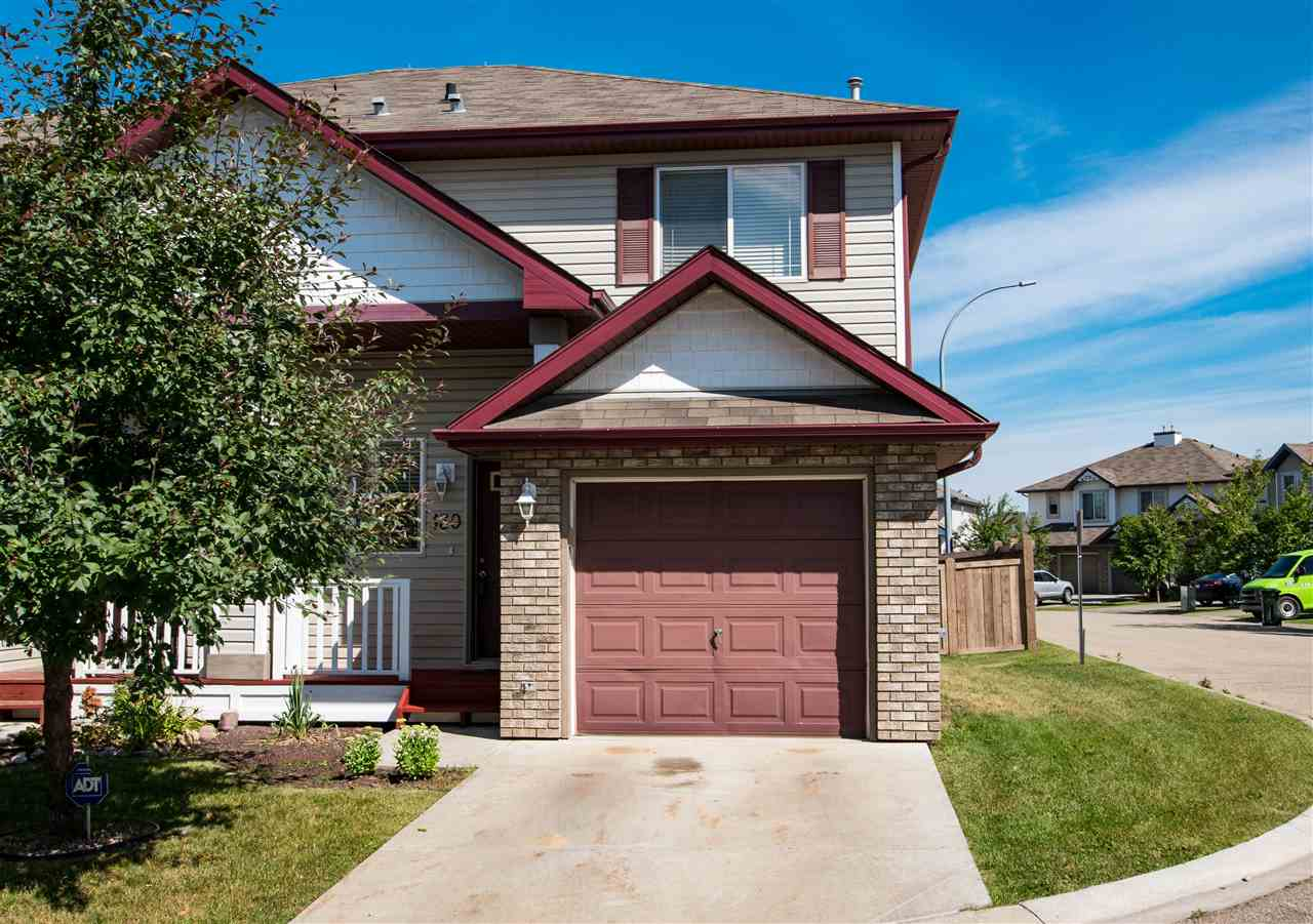 END UNIT! This 1094 sq ft 2 storey half duplex is a great first home or investment property! It offers 3 bedrooms and 3 bathrooms. Nice open layout with a spacious living room and a corner gas fireplace. Lovely kitchen with a dining area and direct access to your fully fenced backyard. Newer carpets upstairs. Single attached garage. Located in a well run complex close to many amenities, parks, shopping and public transit. Great value. Come take a look!