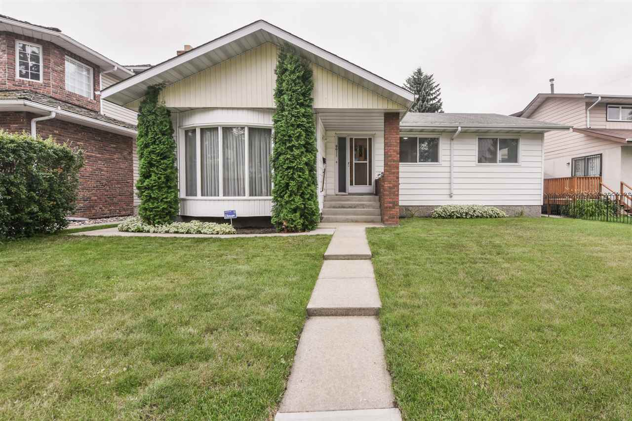 RARE RF3 Zoned Property in one of Edmonton's finest infill neighborhoods tucked behind Connors Hill. A great opportunity for re-development on a sub-dividable 50'x165' lot on a quiet tree lined street. 1694 sq.ft. bungalow features on the main level a sunken living room w/wood burning fireplace, dining room, large eat in kitchen plus a sunken family room which is open to the south facing backyard. The spacious master bedroom features a 3 piece ensuite. Two additional bedrooms and a 4 piece main bath complete the main floor. The basement has a 2nd family room with wood burning stove, summer kitchen/laundry room plus 2 additional bedrooms and a 4 piece bathroom. The fully landscaped yard has an oversized deck and a double detached garage with alley access. The property is situated in close proximity to parks, city trail access, busing plus future LRT. Minutes to downtown, the Ice District, Citadel, Winspear, Muttart Conservatory, Kinsmen Center, Edmonton Ski Club, U of A plus Royal Alex/U of A Hospitals.