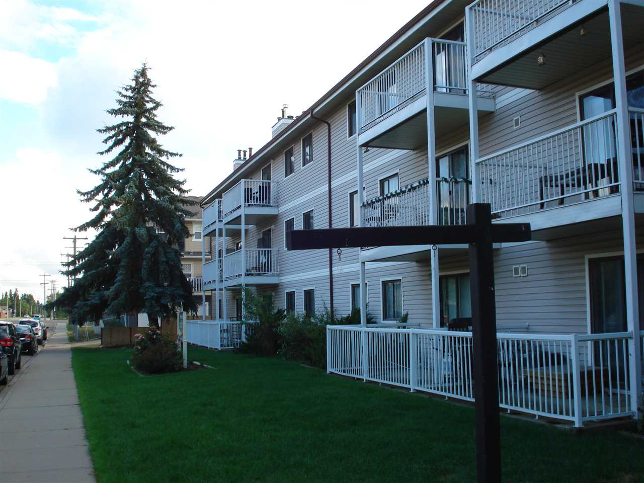 LOCATION LOCATION  LOCATION !! Lowest priced 1983 built in all of NW,SW,SE Edmonton. This gorgeous 2 bdrm top floor condo comes with huge balcony. A massive U shape large kitchen, adjacent dining, storage room, fireplace and dual access bathroom are additional exceptional features of this property. Master bdrm window and balcony are east facing for lots of sunshine and bdrm #2 has a nice far stretching view of the north part of our city. This property has just received new paint, new flooring and it is move in ready. All appliances also are in excellent condition. This property is perfectly nestled right at the heart of the mature/affluent Britainia Youngstown. Shopping, schools, bus service, hospitals, recreation & LRT (valley Line) all just within very close walking distance. Priced right at $133,900.