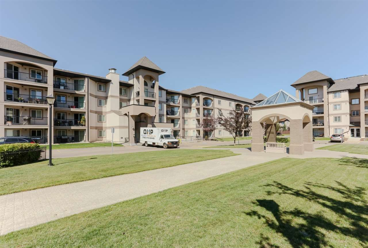 Very well maintained end unit apartment condo, with large partially covered balcony with gas BBQ hook up, located in the well sought after community of Pembina. Features two large spacious bedrooms with the master bedroom having a walk through closet into a 4 piece en-suite. As well there is a gigantic living room, coved kitchen with tons of cupboard space, a 3 piece family bath and a laundry room. Comes with TWO TITLED stalls - one above and the other underground with a STORAGE GAGE. What a great place to call home and is a real please to show