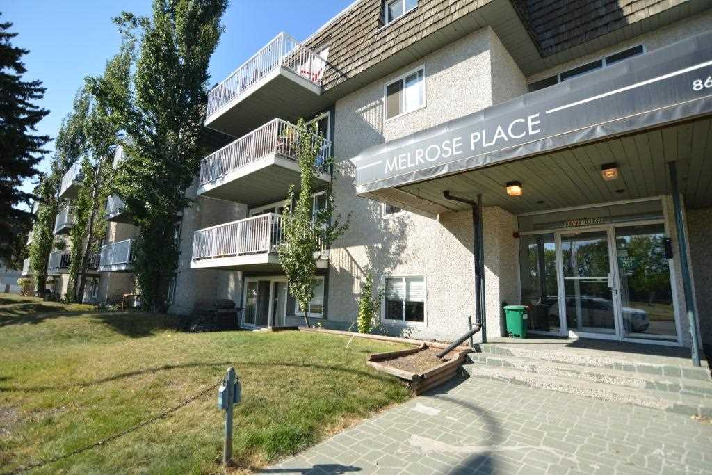 Welcome to this fantastic 1 bedroom + den 2nd floor condo located in the Melrose Place building in the heart of Strathcona. Just minutes to the Old Strathcona Farmers Market, Edmonton's River Valley, downtown and University, this is a fantastic condo unit is great for a first time buyer, investor, university student, or young professional.  This unit has been renovated and features an amazing kitchen with lots of white cupboards and eat-up bar area.  The living room is spacious and offers lots of opportunity for furniture arrangements and access to your own private balcony with loads of sunshine from afternoon through late evening.  You will find a built-in desk in the hallway which is perfect for students and professionals that may need study/work space and a den perfect for a guest room.  The bedroom is large and fits a king bed and has lots of room for your clothing.  The bathroom was renovated with crisp white subway tile and floating cupboard/sink. Condo Fees include everything even electricity.