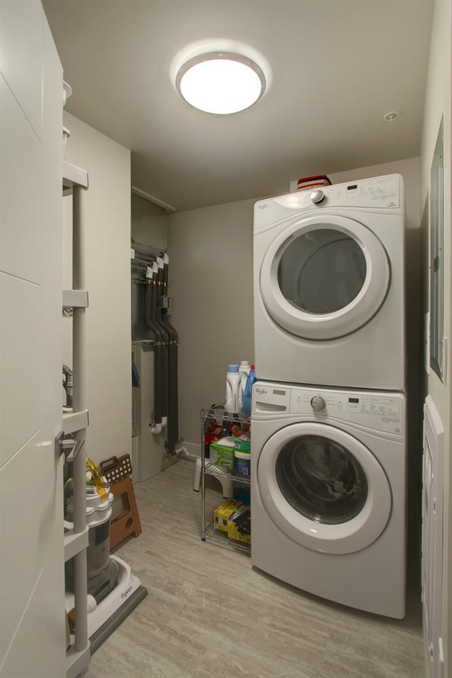 The utility/storage room is where you will also find the laundry equipment.