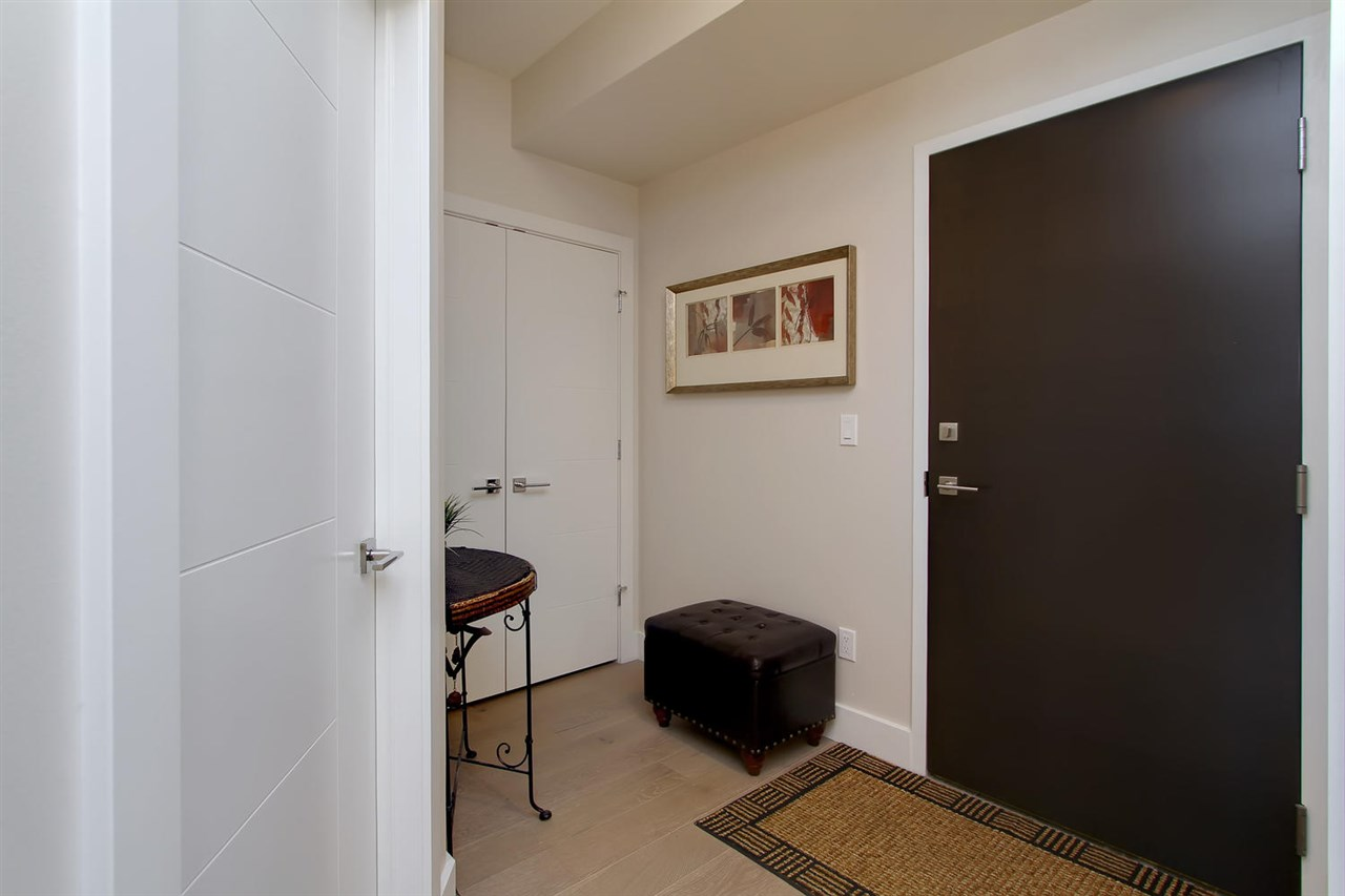 The entrance to your unit has ample space for a stool. And a large cupboard to hold your shoes, boots and coats.