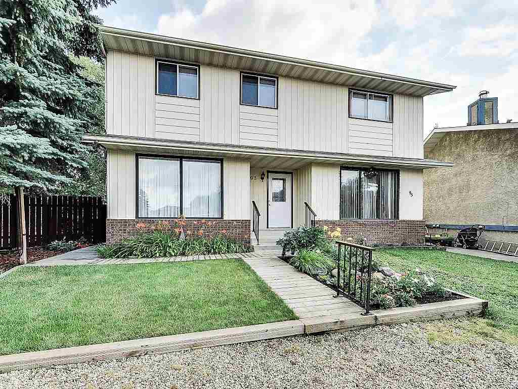 Visit REALTOR® website for additional information. Welcome to 93 Wellington Crescent, Spruce Grove!  Attention first time home buyers & investors, immediate possession available. This cozy duplex offers 3 bedrooms, 1.5 baths, & upgraded kitchen with bright dining area. Fenced backyard with mature trees, nice deck, & large shed. Great location!