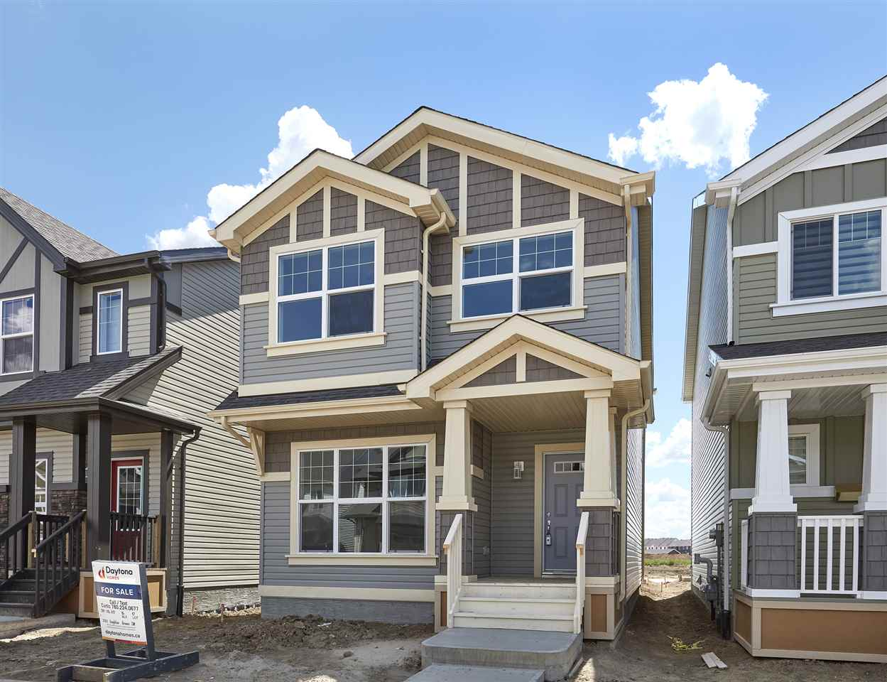 Welcome to Chappelle ? small town feeling in the big city of YEG! The Scion-z style built (2017) by Daytona Homes is a 1426sqft wonderful family home ? 3 beds, 2.5 baths! A spacious foyer welcomes your guests! You will love the open concept style ? laminate & tile flooring throughout & 9 foot ceilings on the main floor. The Kitchen is beautifully finished with quartz countertops, beautiful cabinets, a prep island, an extended eating bar, ceramic backsplash, a pantry & a spacious breakfast nook! The spacious living room features large windows & 9 foot ceilings.  The boot/storage & powder room complete the main floor. Retreat upstairs to the spacious master suite, which features a 3 piece ensuite & a walk in closet. Both children's rooms are a good size, a computer space, upper laundry & 4 piece bath complete this level. Downstairs (the Basement) is unfinished & waiting for your final touches! ZONED FOR Donald R Getty SCHOOL Opening September 2017