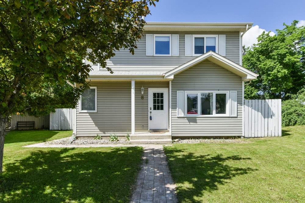 Super family home located on a quiet cul-de-sac and sitting on a large pic-shaped lot. This 4-bedroom, 2-storey home has had numerous upgrades -- new carpet on upper level, newer windows, shingles, siding, flooring on main level, newer trim and lighting.  Exterior has been upgraded as well with interlocking granite sidewalks, retaining wall, chain link fencing and landscaping in the back.  Close to schools and shopping.