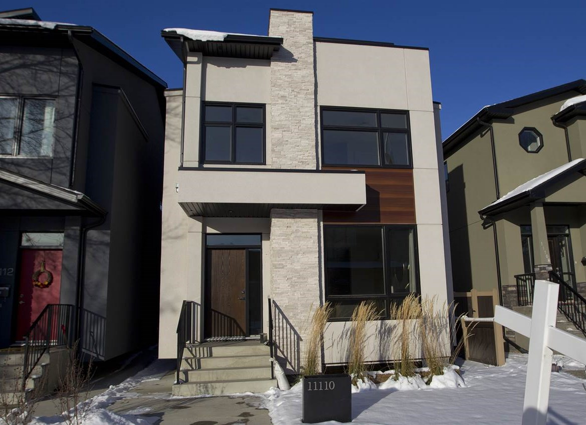 Fabulous well priced LUXURY infill near U of A!! In the heart of McKernan!This beautiful new home has over 3,100 square feet of luxurious finished space starting with a beautiful exterior of Acrylic Stucco, arresting stone & longboard.Designed for exceptional day to day living, this home includes features like Lauzon Organik hardwood, a floor with air purifying properties, a spectacular chefs kitchen with sleek Schenk European cabinetry and quartz counter tops & a superior built-in Jenn-Air appliance package. Upstairs your executive master retreat boasts custom designed closets with rich dark stain & a stunning five piece en suite.There are two more spacious bedrooms & convenient laundry are perfect for family living. Need a studio or quiet inspiring office space? Enjoy the top floor loft w/ south exposure & relaxing terrace!You'll love the finished basement w/ incredible space with a fourth bedroom and storage room. NOTE O/S 22x20 detached garage! Smart & luxurious, this home is unparalleled!