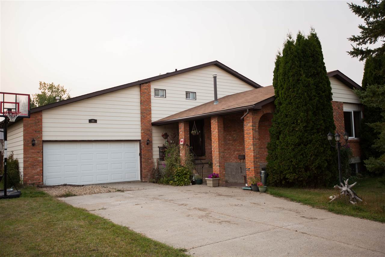 Great location to this over 1900 SQ FT above grade 4 level split located in Cardiff Echoes just 10 minutes north of St Albert. 4 total bedrooms 3 bathrooms large private yard backing onto community park. Upgrades include windows, appliances,shingles,furnace plus more. This is a great family home with loads of room for that whole family.