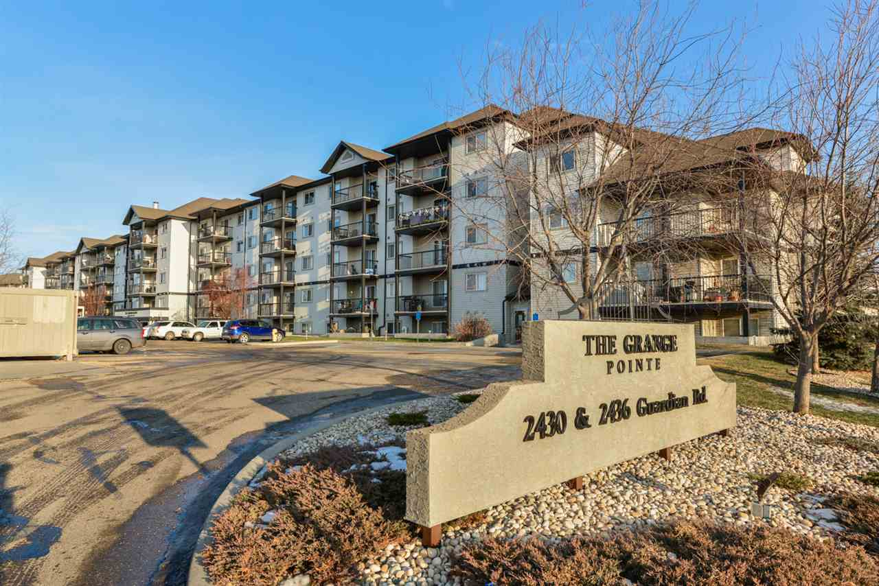 FIRST TIME HOMEOWNER OR STARTING A RENTAL PORTFOLIO??? Here is a perfect fit for either scenario! Over 700 sq ft in this 1 bedroom and 1 bathroom unit in Grange Pointe in Glastonbury. Built in 2004 this well maintained building is in a great location with shopping close by and easy access to Whitemud and Anthony Henday. This 3rd floor unit has a great open floor plan. Good kitchen space with plenty of prep room and storage space. Opens onto dining area with room to entertain family or friends.  The dining area opens onto the big living room with access to the over-sized balcony. Master bedroom is a great size with ample closets. 4pc bathroom is perfect. IN SUITE LAUNDRY!!! Plus some extra in-suite storage for the stuff you don't need everyday! One outdoor parking stall included and plenty of visitor parking near by as well.  If investing isn't for you... this would make a great first home too!!!