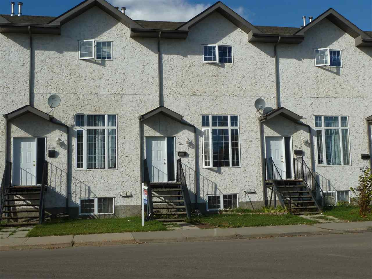 """Downtown location with easy access to schools, shopping & walking trails. A unique well-designed home. Walk into the 1st level c/w entertainment center, corner gas fireplace & 12 ft.  ceiling. A few stairs lead to a large dining & kitchen area. Functionally designed, large kitchen with ample cabinet & counter space. Patio doors leads to a large balcony for barbecuing. Upstairs includes two bedrooms. The MBR has been renovated to enlarge space as well as include an surprising walk in closet & ?Jack-Jill"""" door leading into a 4-piece bathroom. A large 2nd bedroom includes its own walk in closet as well as a 3-piece bathroom then add the brand-new flooring finishes off 3rd floor upgrades. Still need an extra bedroom? The basement serves as bedroom or entertainment area for your family needs. An abundance of natural light on every level creates an openness throughout the home. The oversized single car attached garage provides vehicle & storage space. Priced well for any budget this is a home worth viewing!"""