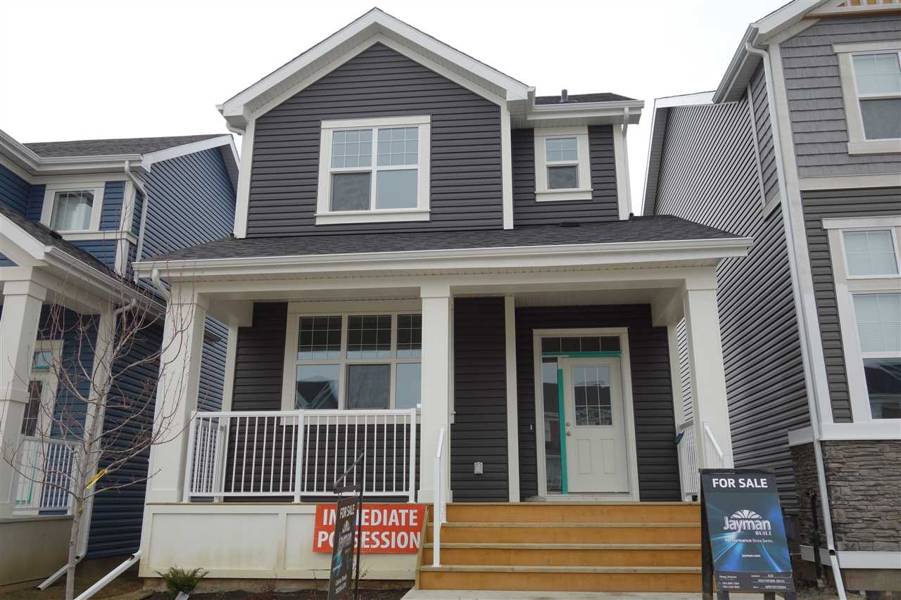 The 'Destiny' by Jayman BUILT is a lovely 1566 sq.ft. two story with great features - stainless steel appliance package, triple pane windows, tankless hot water system, solar panel rough in, HRV and 96% efficient furnace.  The main floor of this home is great room style with gorgeous laminate flooring; dining area opens to the large u-shaped kitchen with flush eating bar.  The basement entry has a two pce. powder room close by for convenience, and front & back entries feature coat closets.  The second floor has three spacious bedrooms including a spacious owners suite with large walk-in closet & full ensuite bath; second full bath & linen closet.  The home comes with kitchen appliances, double parking pad & front landscaping.  Walking distance to elementary school!