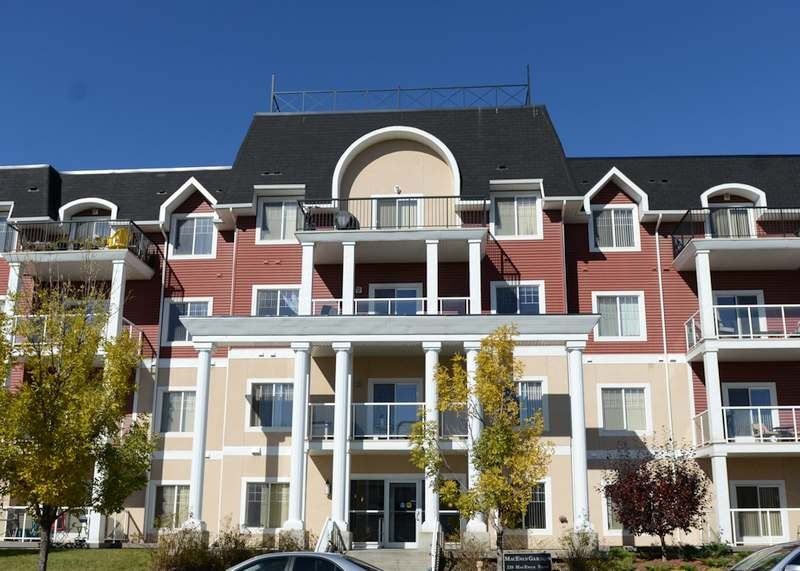 Welcome to MacEwan Gardens ? a beautiful condo complex that provides everything you need! This home features TWO bedrooms, TWO bathrooms, HEATED underground parking (titled stall), INSUITE laundry & storage, BALCONY overlooking greenspace area, EXERCISE room, SOCIAL room, lots of VISITOR parking, UTILITIES included in condo fees ? so you can fix your budget. This unit looks like new! The large kitchen with plenty of cupboard space opens up to the living room & dining area. The large master bedroom has room for large furniture and a 3pc ensuite. Second bedroom & 4pc bathroom on the opposite side of the unit allows for privacy. Insuite laundry & storage space for extra convenience. Gorgeous private patio area as well as lovely walking trails throughout area. Public transportation & easy access to Anthony Henday, schools & shopping.