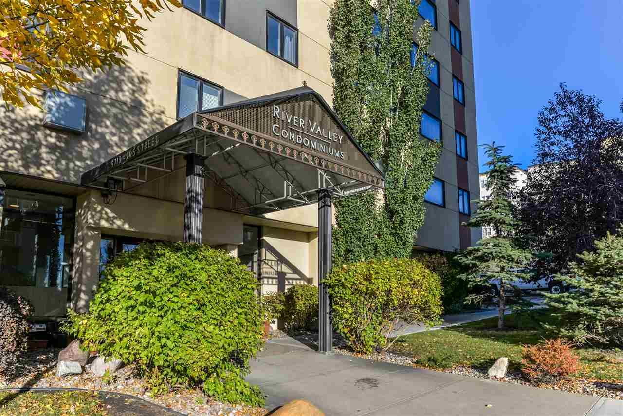 Terrific one bedroom condo located in the River Valley. Close to University, Grant MacEwan, Legislature grounds, downtown, trails, transit, etc. This concrete building has had upgrades to the exterior, windows, elevators, roof and heating system. It is located in the south west corner on the third floor. Professionally managed with an On-Site Property Manager and includes a convenience store on location that?s awesome for those quick trips. Move in ready and immediate possession makes this a great choice for yourself, an investment property or perfect for the student in the family.
