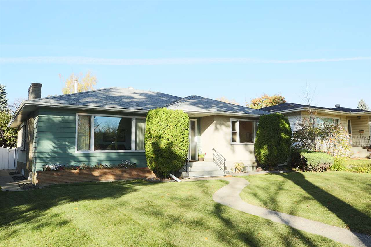This large Highlands Bungalow would be a great renovation project or start all over and build your dream home on this 49.21' x 121.39' lot. The main floor has a great floor plan with a large living room open to the dining area, spacious kitchen with oak cabinets. There are 3 bedrooms on the main floor and a 3 pce bath. Large back entry with main floor laundry. Shutters on most of the main floor windows. Downstairs you will find a huge family room, den, storage area and a 3 pce bath. Great landscaped yard and a double detached garage with room to park 2 more vehicles behind.  Located right across the street from Mount Royal K-6 School & half a block to transit.