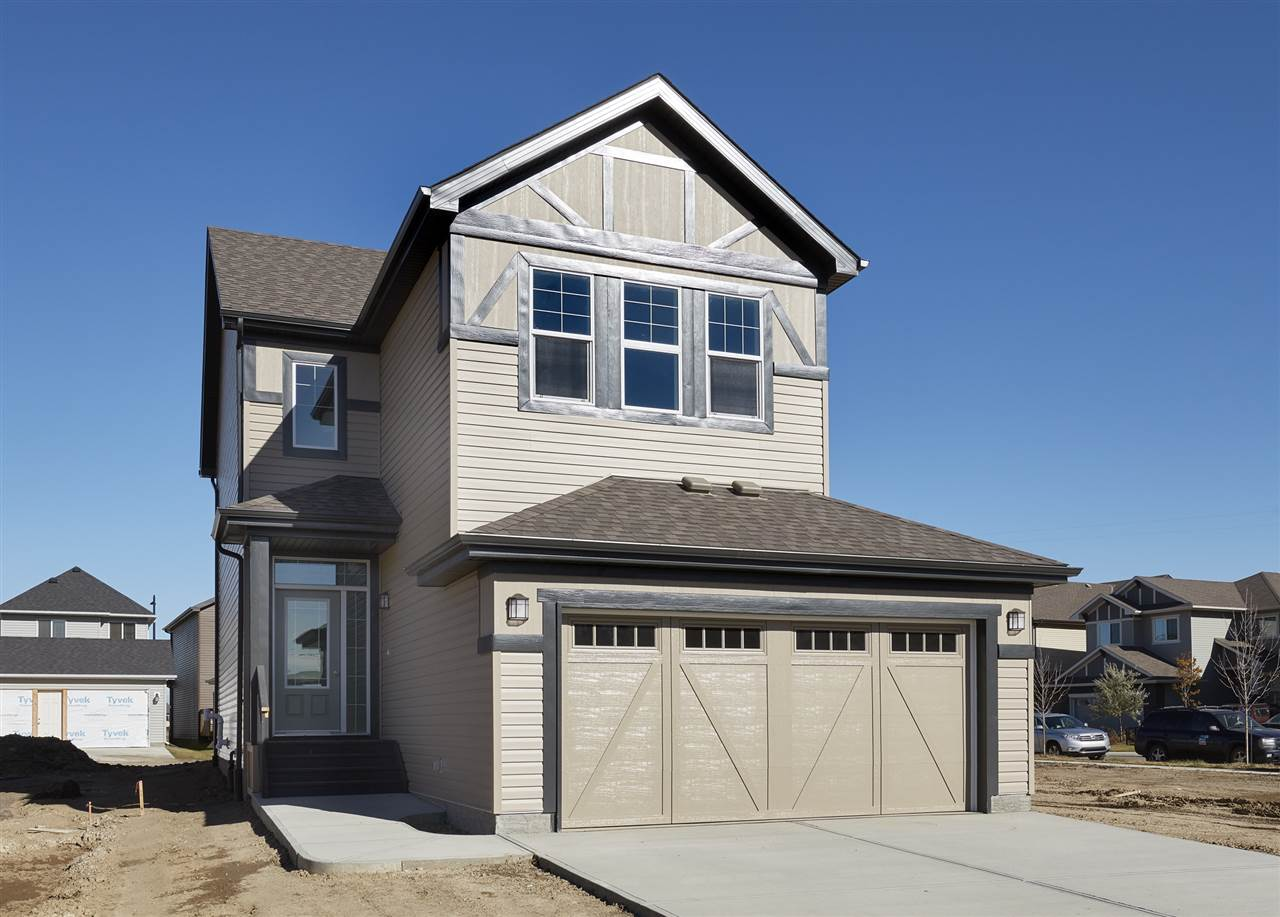 LOCATION - Welcome to Chappelle - small town feeling in YEG! The Austyn 3 (2017) by Daytona Homes is a 2000sqft wonderful family home ? 3 beds, 2.5 baths! A spacious foyer welcomes guests. You will love the open concept style ? laminate & tile flooring throughout & 9 foot ceilings on the main floor. The Kitchen (including appliances) is beautifully finished with quartz countertops, beautiful cabinets, a prep island with extended eating bar, ceramic backsplash, spacious dining area, walk-in pantry & butler pantry! The large living room features a gas fireplace & built-in storage & powder room complete the main floor. Retreat upstairs to the spacious master suite which features a 5 piece ensuite (2 sinks, soaker tub & shower) & a walk in closet. Both children's rooms are a good size, a large bonus room with vaulted ceilings is a perfect place to relax with the family, upper laundry & 4 piece bath complete this level. The basement is unfinished & waiting for your final touches! School - Donald R Getty