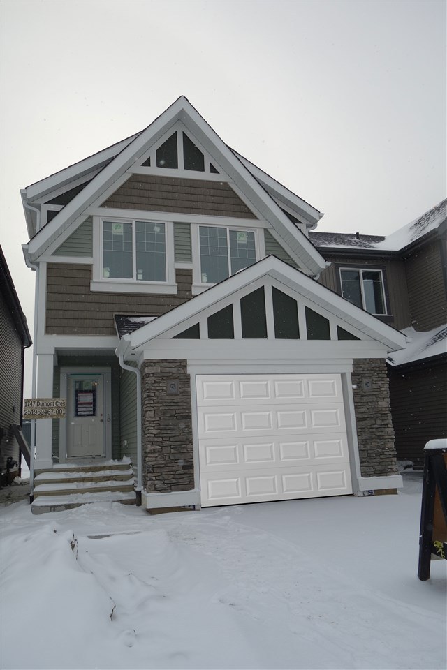 DesRochers is an exciting newer community with great amenities close by and new schools in the area!  Perfect spot for a growing family and this amazing two story by Jayman BUILT is the 'Exud' and offers great features!  Stainless steel appliance package is included; triple pane windows; tankless hot water system; solar panel rough in; HRV & 96% high efficiency furnace; laminate flooring & 9' ceilings on the main & a 3 pce. roughed in bath in the undeveloped basement.  Attached garage; great room style main floor with huge walk-in pantry, island & flush eating bar in the kitchen.  Second floor offers a luxurious owners suite with walk-in closet and full ensuite bath; large bonus room, two additional bedrooms, laundry closet and a second full bath complete this level.  Great location!