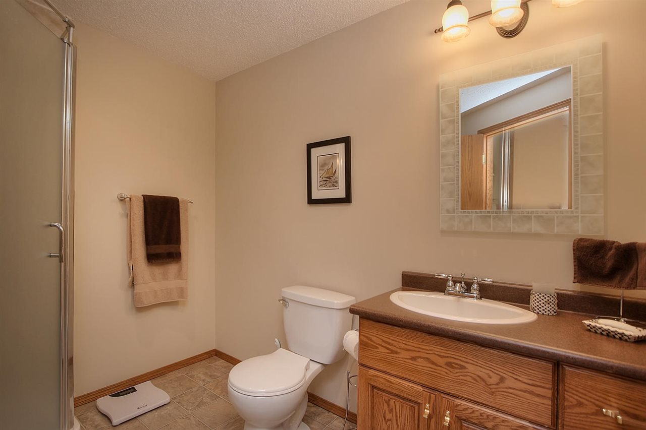The basement bathroom has a shower for handy access by your guest or teen that lives in the basement.