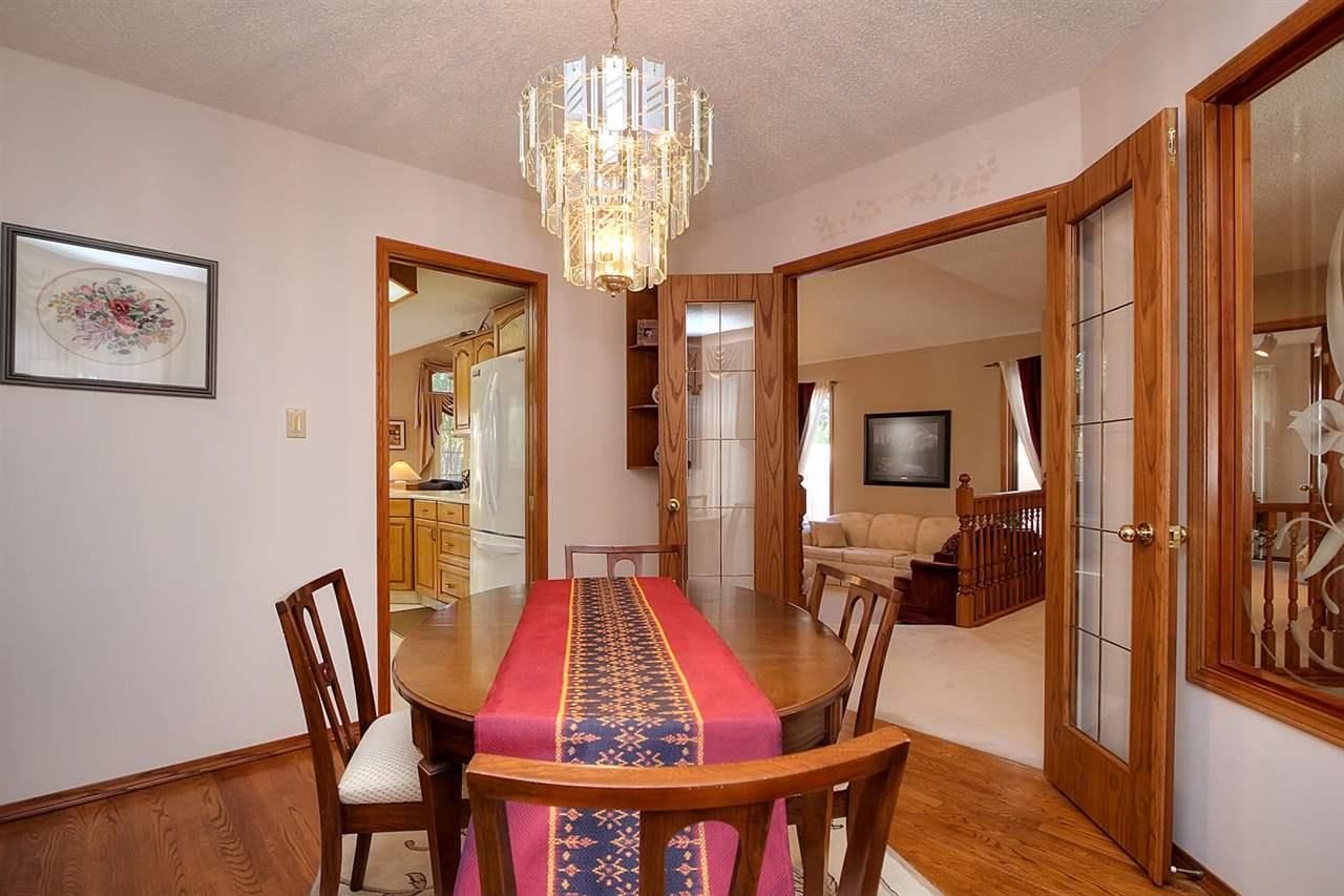 The formal dining room also has yet another set of double doors.