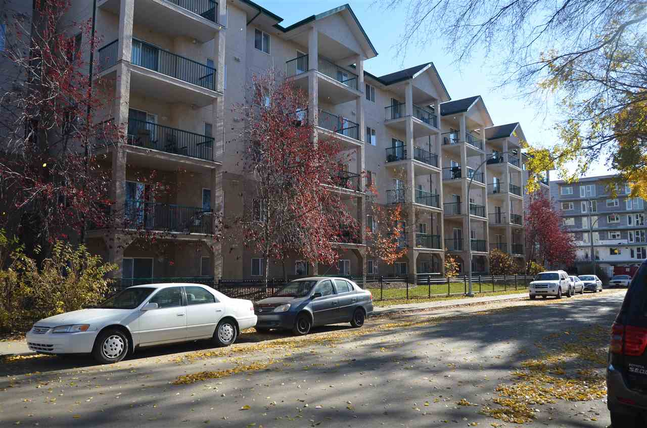 This top floor, 2 bed/2 bath gem features vaulted ceilings and an airy, well laid out floor plan. The west facing balcony fills the condo with sunshine and looks out onto a quiet tree-lined street. This unit comes with TWO tandem parking stalls and features an open concept, walk through closet, and ensuite laundry. Located minutes from the downtown core and close to many amenities, this happy unit could very well be your next home! Thank you so much for viewing!