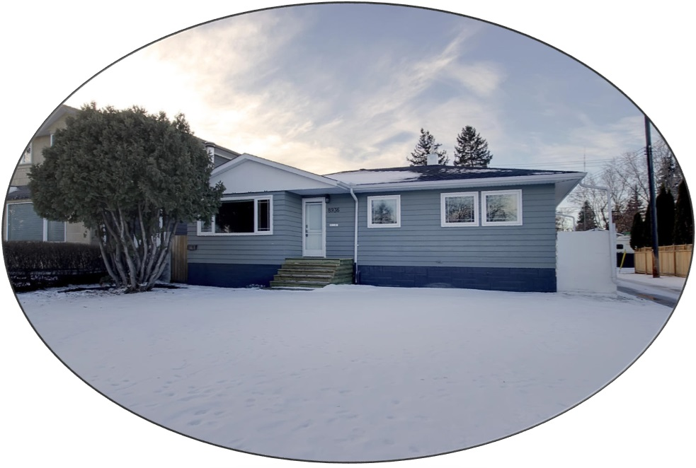 Renovated, open-concept 3 bedroom, 1083 sqft bungalow on a 15.24? x 36.9? lot with only one neighbour. Spacious living room with cozy free-standing wood stove. Eat-in kitchen has an abundance of maple cabinets (uppers to ceiling); granite counters, SS appliances (gas stove) & a stainless movable island. Huge master has a convenient pocket door to 4 piece Bath (deep, high-end jetted tub, furniture vanity with moulded top). NO carpet:Refinished, original hardwood & tile. Lower level has common laundry at bottom of stairs, with access to in-law suite: 2nd kitchen, huge living/dining area, 2 bedrooms & 3 piece bath. Updates: HE furnace/tankless HWT, windows, exterior doors, shingles, fascia/soffit, eaves, attic insulation. All this and a Massive 28' x 25.5' double garage (2005) with loft/ two 10? x 8? doors. RV parking. Ideal location with easy access to Downtown, Whitemud DR , Anthony Henday. Walking distance to schools/transportation. Close to shopping & ravine. Perfect home + fabulous community = Parkview.