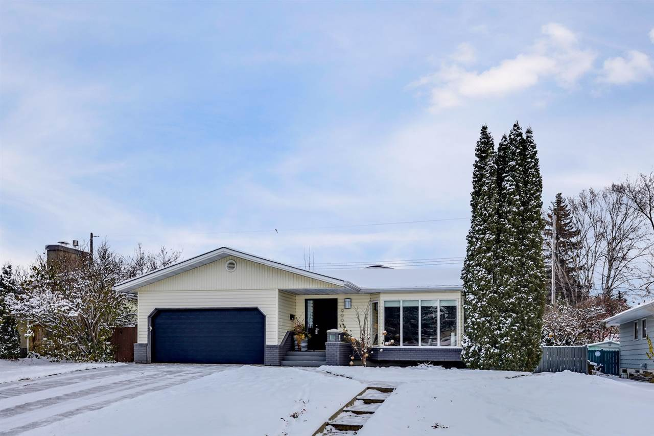 Incredible Valleyview location, just steps to the river valley, parks, all amenities & the location offers terrific access to downtown & the UofA. This 1740sqft bungalow ? plus a fully finished basement ? has 3 beds, 2 basement dens with windows, 3 baths, double attached garage all located on a fully landscaped  7258sqft lot!  Entering the home you will love the hardwood throughout the main floor.  The formal living room with wood fireplace is opening to the dining room.  Step into the fabulous modern kitchen with quartz counter tops, ample storage & a 2nd dining area. Open from the kitchen is the family room with gas fireplace!  Down the hallway you will find the spacious master bed with 3 piece ensuite, 2 additional beds & a 5 piece bath completes the main floor. The fully finished basement is perfect for family movie nights with a wood burning fireplace, games area, 2 additional rooms, laundry & storage.  Recent upgrades include NEW singles Oct 2017, New paint throughout, AC & many more!