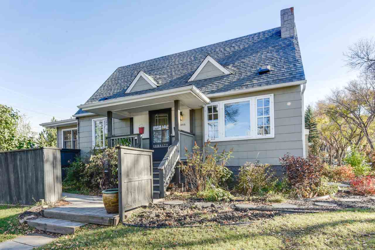 This charming home on a corner lot in walkable McKernan is the perfect blend of location (only 3 blocks from LRT, walk to the UofA and Whyte Ave) and character. It also holds incredible cash-flow potential to supplement your income with an in-law suite in the basement! The main floor features a large bedroom, updated full bathroom in sparkling white and red brick accents, a living and dining room area with HARDWOOD under the carpet just waiting for you to reclaim as yours and a gas fireplace. There is also a large kitchen with built-in desk space and the coziest family room you've ever had the pleasure of sitting in. Upstairs are 2 more bedrooms, another full bath, and hardwood throughout. The basement offers 2 bedrooms, full bath with soaker tub, kitchen and living space, and laundry/mechanical. You'll love the BRAND NEW SHINGLES, newer hot water tank, Carrier furnace, and 100 AMP electrical. Outside, this lot has 2 large spaces to hang out, incl. a tiered deck in the beautiful yard. It's lovely!