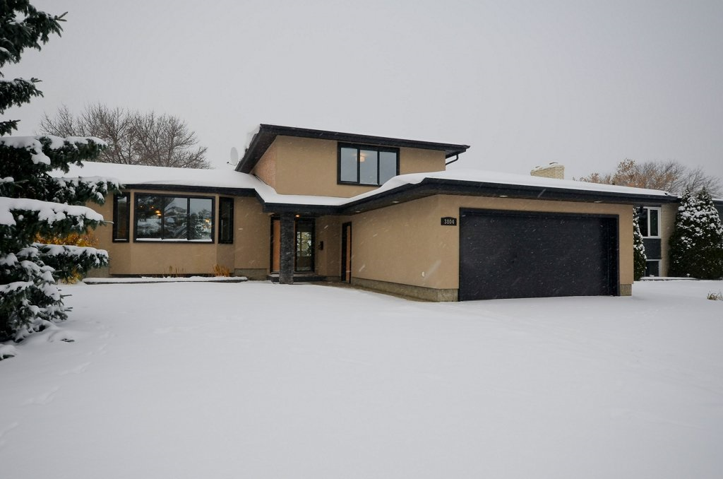 This 2162 sq ft 4 level split is on a gorgeous well landscaped lot that has new exposed aggregate driveway, patio and walkways.  This home has been well maintained and shows great pride of ownership.  The kitchen breakfast nook are very large.  The counter tops are granite and the appliances are built in wall ovens and counter top ranges. The living room has a gas fireplace with Tyndlestone rock face.  There are 5 bedrooms all with more than ample closet space.  The master bedroom will accommodate a king size suite and has a 6pc ensuite with steam shower and soaker tub plus there are large Mr and Mrs walk in closets with organizers .  This home has newer windows, doors, bathrooms, flooring, counter tops, upgraded insulation, upgraded power panel and a heated double attached garage.  The den has been set up as a theatre room.