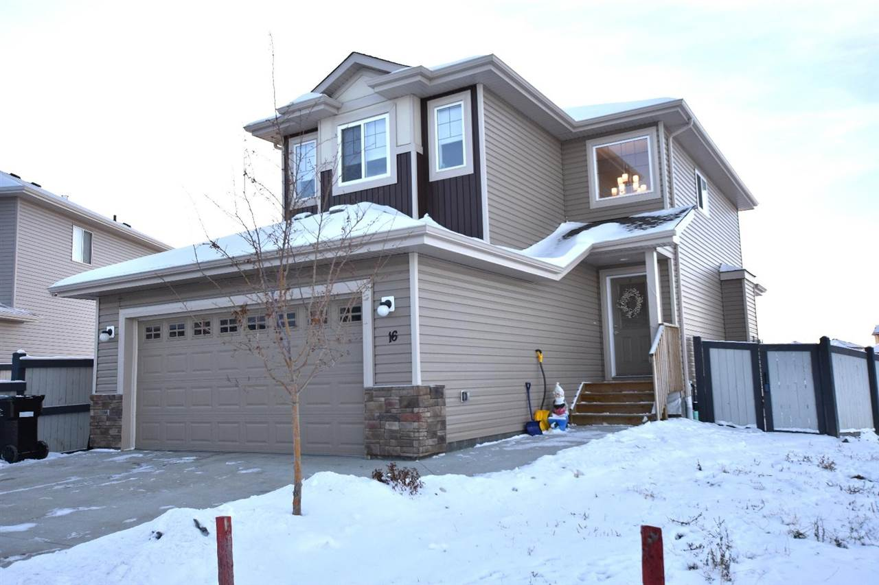WELCOME HOME TO LEDUC. Finally, the family home you are looking for! Step into the bright entrance of this 1650 sq ft, well-maintained home. The OPEN CONCEPT main floor living space is perfect for family and entertaining. The chef?s kitchen with a corner pantry and black granite island that overlooks the large living room & dining space. HUGE WINDOWS flood the main floor with light. Step onto the deck and enjoy your fully fenced, and landscaped yard. Step back in and feel the cool CENTRAL AC. A 2pc bathroom and laundry complete the main floor. Head upstairs to find a BONUS ROOM, an ideal place for work, relaxation and play! Down the hall, there is a main 4pc bathroom and THREE BEDROOMS. The large master comes complete with separate shower and walk-in closet. Garage is well appointed and the storage cabinets are part of the Sale. As if there wasn?t already enough living space, you?ll find an unfinished basement waiting to transformed! Close proximity to the Leduc schools, green space and QE2.