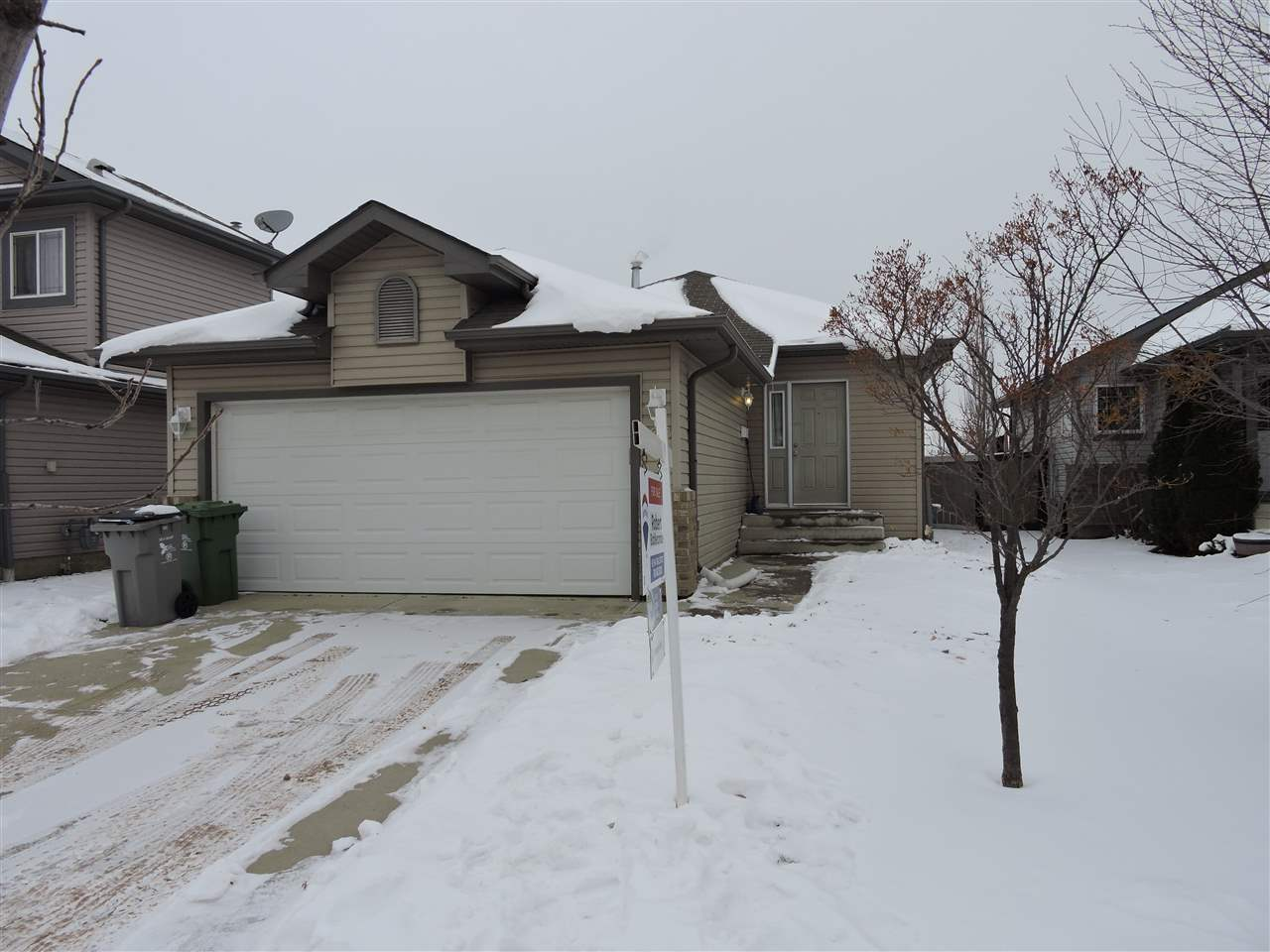 Beautiful 1102 sq ft Bungalow located in Goudreau Terrace. Great location close to Edmonton Int'l Airport,Anthony Henday,Schools,Pools and Shopping. Bright open design with three bedrooms on main floor,large living room and large kitchen with all appliances and spacious break fast nook overlooking a 12 x 12 deck and spacious back yard. And for extra room start planning to develop your unspoiled unfinished  basement with your own ideas. A must see