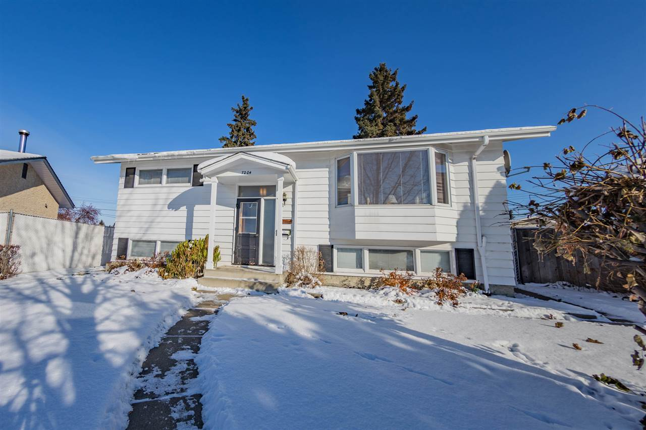 """Welcome to this impeccably maintained home situated in a quiet cul-de-sac located in the community of Delwood. This bi-level home has a over 1800 sq.ft. of living space with a great layout and functionality, 2 beds up, 2 down, and 2 full baths. Southwest exposure fills this main floor living space with light. The living and dining rooms have beautiful original wood plank ceilings. The kitchen is spacious and open to the rest of the home. Downstairs you will find a huge family room with a corner bar, laundry, 2 beds, 3 piece bath, and storage. Back yard is your private oasis, with its huge deck, large yard with plenty of space for kids/pets to run and play. The oversized double detached garage, and RV parking completes this home. A short walk will get you to parks and school, with all amenities nearby. Pride of ownership is evident throughout this pristine home awaiting its new family. Visit """"Realtors"""" website for more info."""