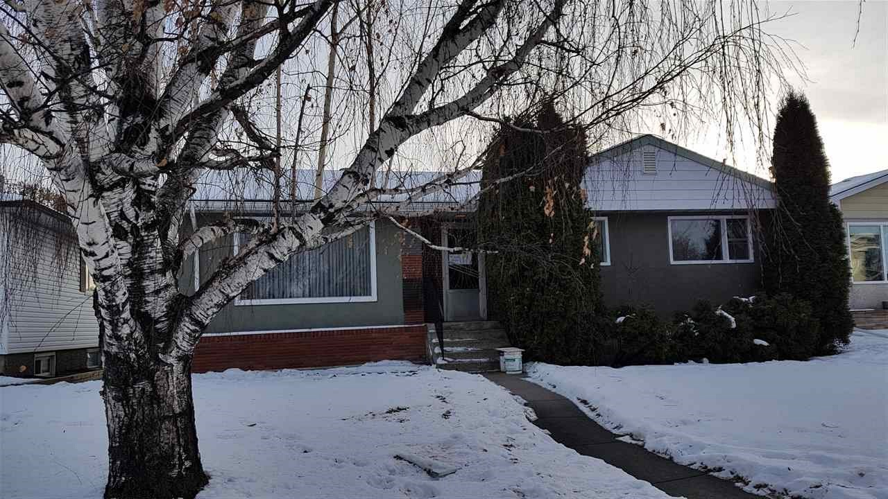 Solid bungalow with 3 bedrooms on main floor. There is a dbl detached garage. Has a south facing backyard. There is upgraded electrical to 100 amp service. Also has 2 forced air furnaces and a 3 pce bath in basement. Only a half a block to Millcreek Ravine. The property has potential to be renovated or is move in ready for a rental. Only a block from future LRT and walking distance to future  station. The lot was approved for subdivision by previous owner. Excellent site for a large family home or 2 single infill homes. Buy now before prices increase due to future infill development in this area. Basement is finished. There doesn't appear to have any moisture issues from what I can see. Great opportunity for short or long time hold. Roof was done 10 yrs ago according to owner. Lot is 51'X135'