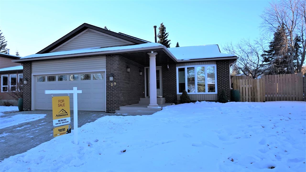 Available with immediate possession & situated in the popular community of Woodlands in St. Albert, this light & sunny 3-bedroom, 3-bathroom home would be just perfect for a young & growing family. Enjoy almost 2000 sq. feet of living space. As you walk in you will notice the hardwood floor & open floor plan. Make your way through the living room & into the modern kitchen featuring granite counters. The cozy family room with more hardwood & featuring a thermostat controlled cozy gas fireplace is adjacent. Make your way up the stairs the bedrooms & notice the master with ensuite & large closet featuring a handy laundry shute. Two other bedrooms & a family bathroom complete this level. Make your way back down to the lower level & you will find a private office, laundry area & a convenient man door from the garage for bringing in groceries.  Upgrades include: new roof, siding, air conditioning & hot water tank. Visit REALTORS web site for additional information on this listing.