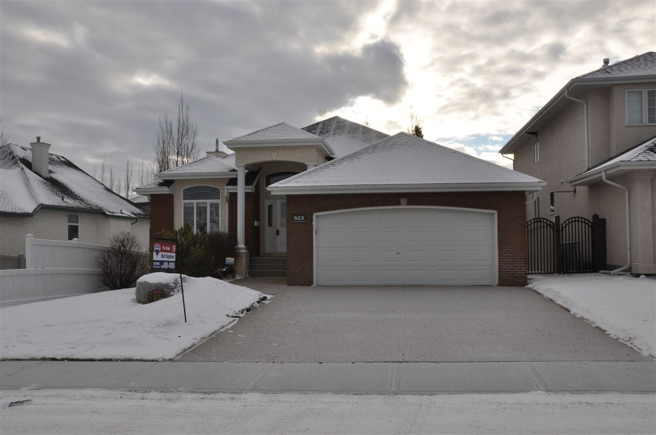 Immaculately Maintained 1820 sq/ft Bungalow with Walkout Basement located on a 50'x125' lot, situated on a quiet, non-through road! This home has had extensive upgrades including new shingles (2012), high efficiency furnace (2016), boiler for infloor heating (2016), hot water tank (2016) and air conditioner (2017). Inside, you will find a large kitchen with stone countertops, gas cooktop, two wall ovens, and built in microwave. The large master bedroom features a walk in closet, four piece ensuite with separate tub and shower, along with an attached flex room that overlooks the south facing back yard. Downstairs, there are two more bedrooms, each with their own four piece baths! Media room, two gas fireplaces, covered balcony with natural gas hookup, and a spectacularly landscaped yard all make this home a definite must see!