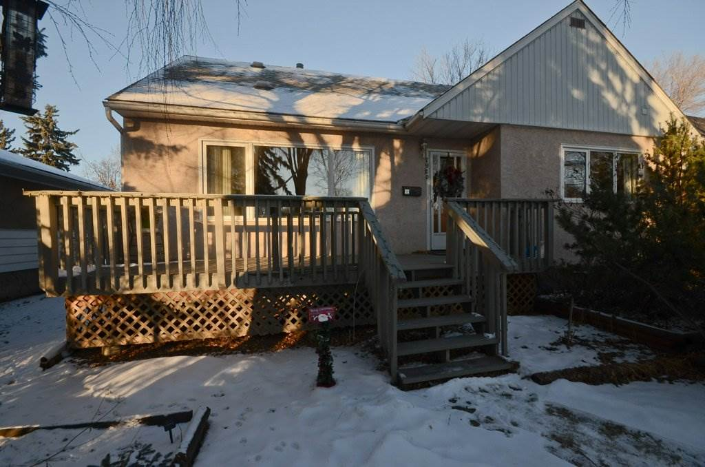 This 1626 sq ft semi bungalow is located on a quiet location very close to Vimy Ridge Academy.  The home has a total of 4 bedrooms and 3 full bathrooms, perfect for a growing family.  The windows are newer as well as the appliances in the kitchen.  There is hardwood flooring throughout the upper 2 levels of the house.  The kitchen has been updated and there is a good sized dining area.  The living room is spacious with large south facing windows.  All of the bedrooms are spacious with over sized closets.  The upper level has a large family room, 4pc bath and bedroom with a ton of storage space.  The basement is almost complete with the start to a kitchen, bedroom, rec room and large storage room.  There is parking at the front of the house for 2 vehicles as well as the over sized single garage with extra parking. Newer fence. Perfectly located within easy walking distance to schools, shopping the U of A and downtown.