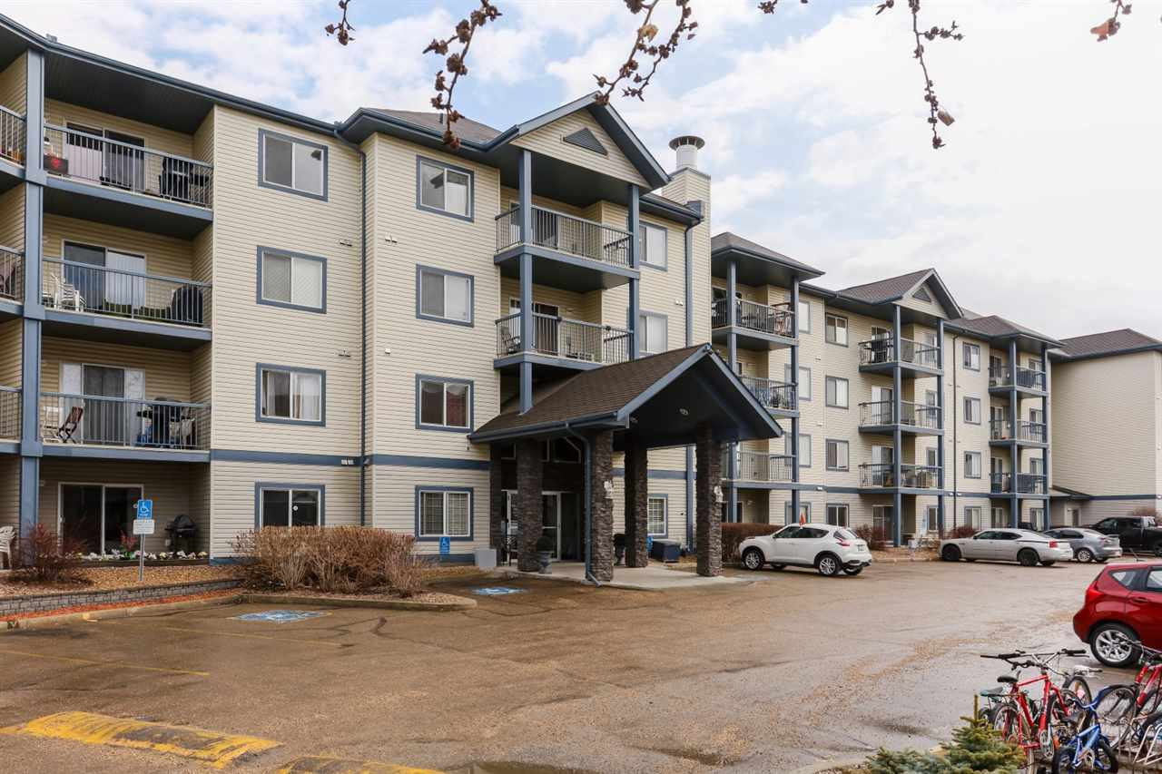 Very well maintained top floor unit in the well sought after community of Eaux Claires, close to all amenities and driving distance to Edmonton Garrison. This unit is close to the elevator, and the features of the gorgeous condo are, a Laundry Room with storage, A large Island Kitchen, with Stainless Steel Appliances, loads of cupboard space, a dining area, nice sized living room with a patio door leading to a south facing balcony, a large bedroom and a 4 piece family bath. Comes with 1 titled stall. What a great place to call home and is a real pleasure to show.
