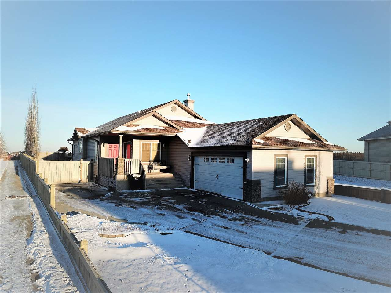 RARE opportunity to own this one-of-a-kind in Spruce Grove! Massive yard, 32x20 attached garage, fully finished bungalow makes this home ready for your family to call it yours. Located on the east side of Spruce Grove is this 1500+ sq ft bungalow that makes you feel right at home upon entering! The main floor living areas are full of open spaces with a spacious den, massive kitchen that is set for hosting many, dinette area surrounded by east facing windows, and a living room that is fantastic for just the way you live! The generous sized master retreat features a walk-in closet and a huge ensuite! The basement is fully finished with two bedrooms, another full bathroom and a huge recreation area! Enjoy the possibilities in your massive backyard and enjoy those family BBQ's! There is a large side gate that provides great access to the backyard for storage and functionality! All of this and more located near many walking paths, parks, and Century Crossing! Make this home yours today!