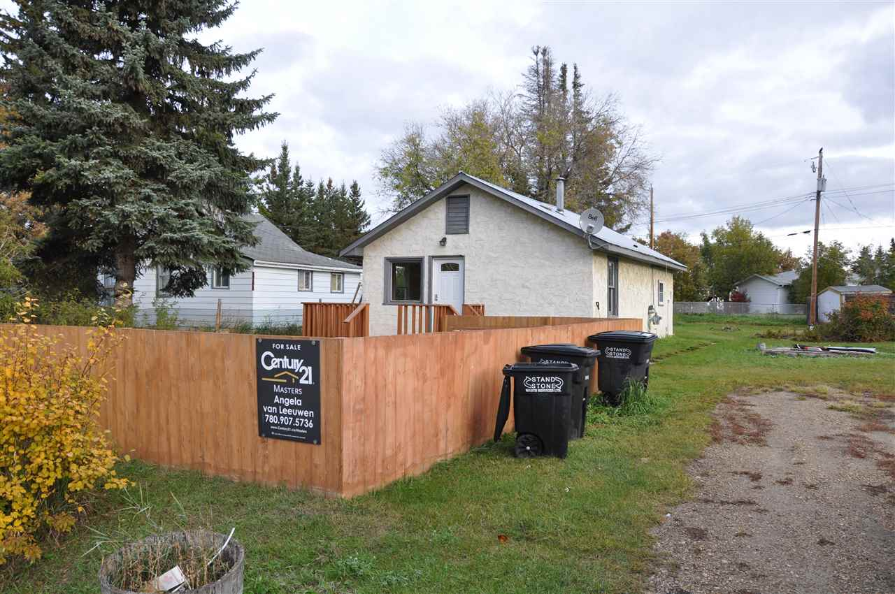 ATTENTION INVESTORS and FIRST TIME BUYERS!!!! Check out this affordable home on a massive lot within the Town of Onoway! You'll love the brightness in the home, it really makes it feel much larger! The bathroom/laundry room is HUGE, and the bedroom is a nice size as well. There's a separate dining area, which leads into the kitchen. Outside you'll find a nice garden spot and lots of room for the kids to play. The lot is so large you have enough room to set up a soccer field and invite the neighbours over! And it's located on the outskirts of town, so it's nice and quiet year round!  Onoway has all services, including doctors, a grocery store, dentist, insurance companies and lots of activities for the kids. Not to mention a brand new high school and an amazing elementary school. And when you want to take a trip into the city, you're only 20 minutes from Stony Plain/Spruce Grove and half hour from St. Albert.