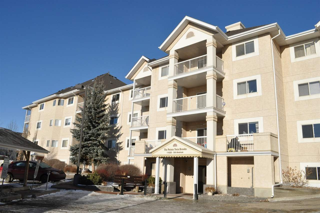 This super clean, bright and comfortable unit is located in Edmonton's south Twin Brooks prime location. Walk to ravine, trials, parks and public transit.The unit comes with two spacious bedrooms, two full baths, fully equipped kitchen with upgraded appliances and a huge storage room containing a set of washer and dryer. Flexible possession date, price right. This condo will fit your luxurious life style at an affordable cost.