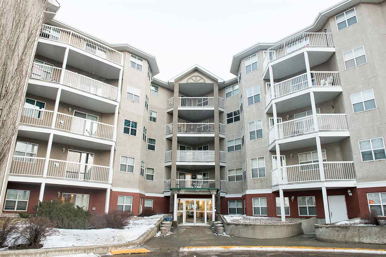 GREAT LOCATION for age 50+ in a quality Adult Complex directly across from BONNIE DOON MALL, Just steps away from BUS STOP on a main bus  route  and FUTURE LRT! One bedroom condo, Five appliances, Window coverings, Ceiling fan in kitchen, In suite laundry, Gas fireplace, Balcony, and Underground parking with storage locker. This is a fabulous secure adult living. AVAILABLE IMMEDIATELY AND PRICED TO SELL FAST!
